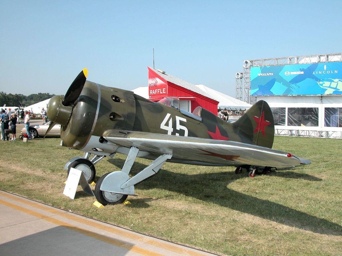 The Soviet Air Force I-16 fighters were not a match for the modern German Messerschmitt Bf109s.