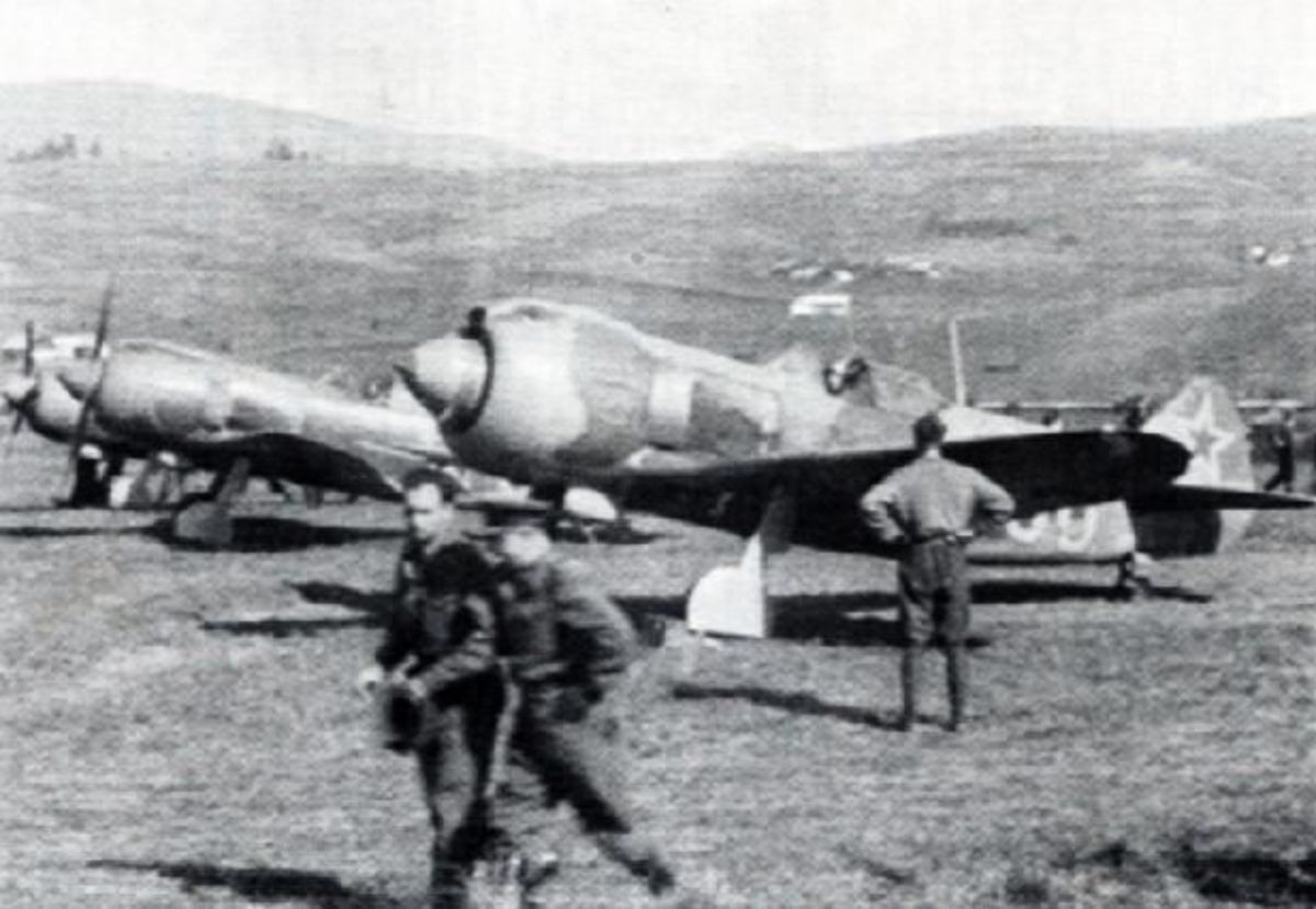 Lavochkin La-5s ready for take-off on the Eastern Front 1943, 9,920 were built.