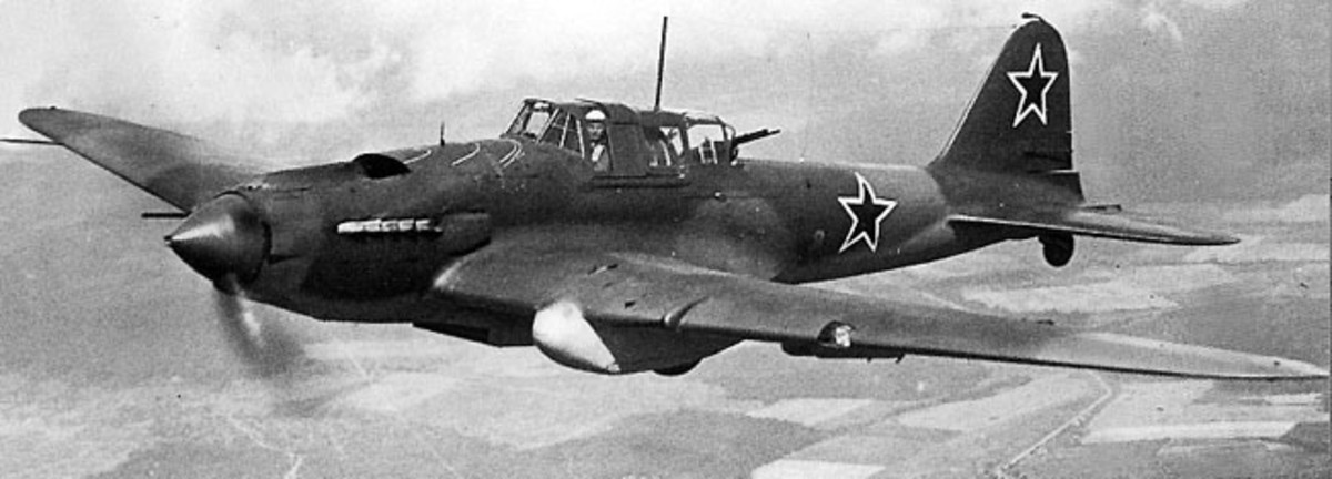 The Ilyushin Il-2 was the Red Air Force's best ground attack aircraft in the Second World War. It was heavily armored known as the flying tank. One of the most produced aircraft in military history over 36,183 were built.