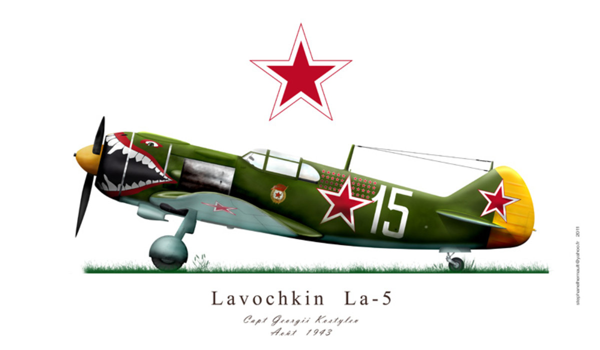 The Lavochkin La-5 had a top speed of 403 mph but was no match to the Me109.