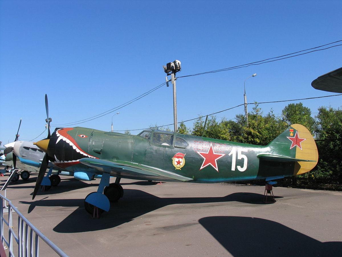 A Lavochkin La5 Soviet fighter , Ivan Kozhedub flew La5s during most of  the Second World War.