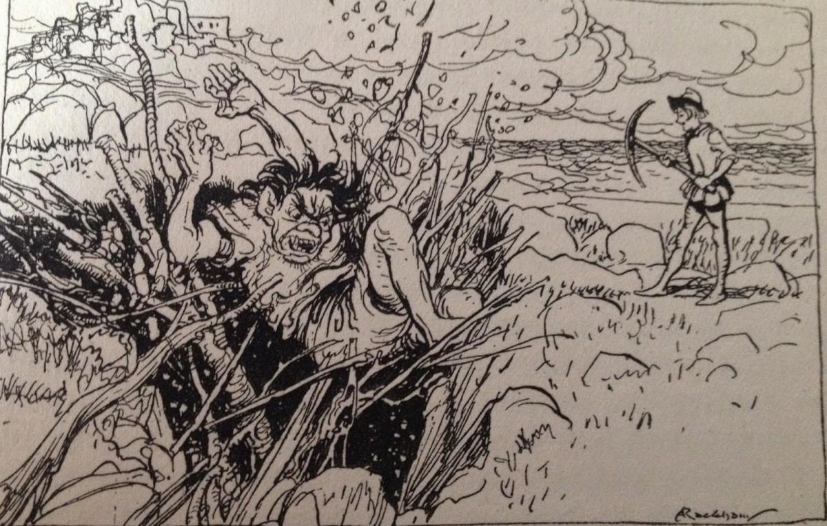 Cormoran and Jack the Giant-Killer (Arthur Rackham)