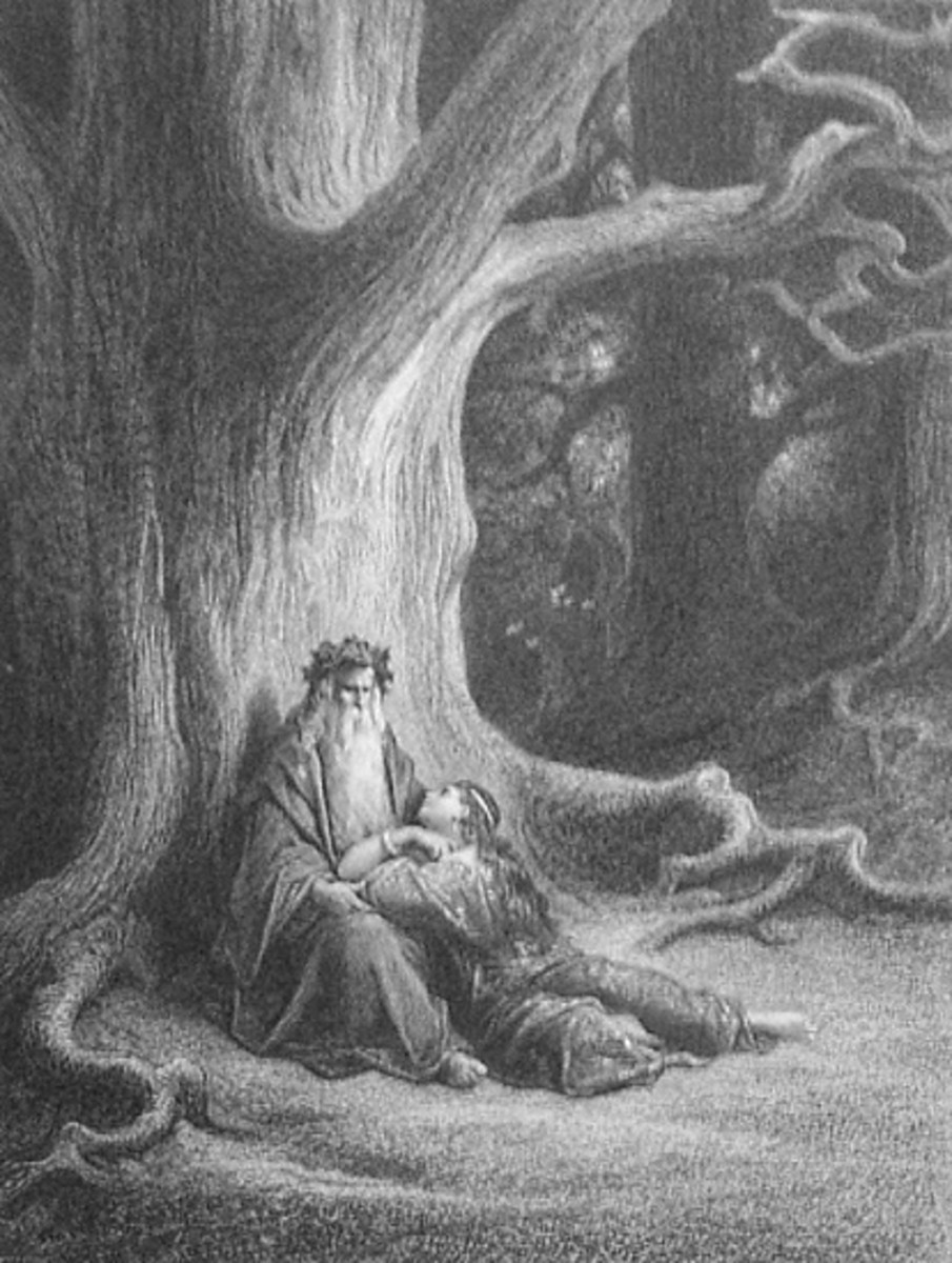 Merlin by  Gustave Doré