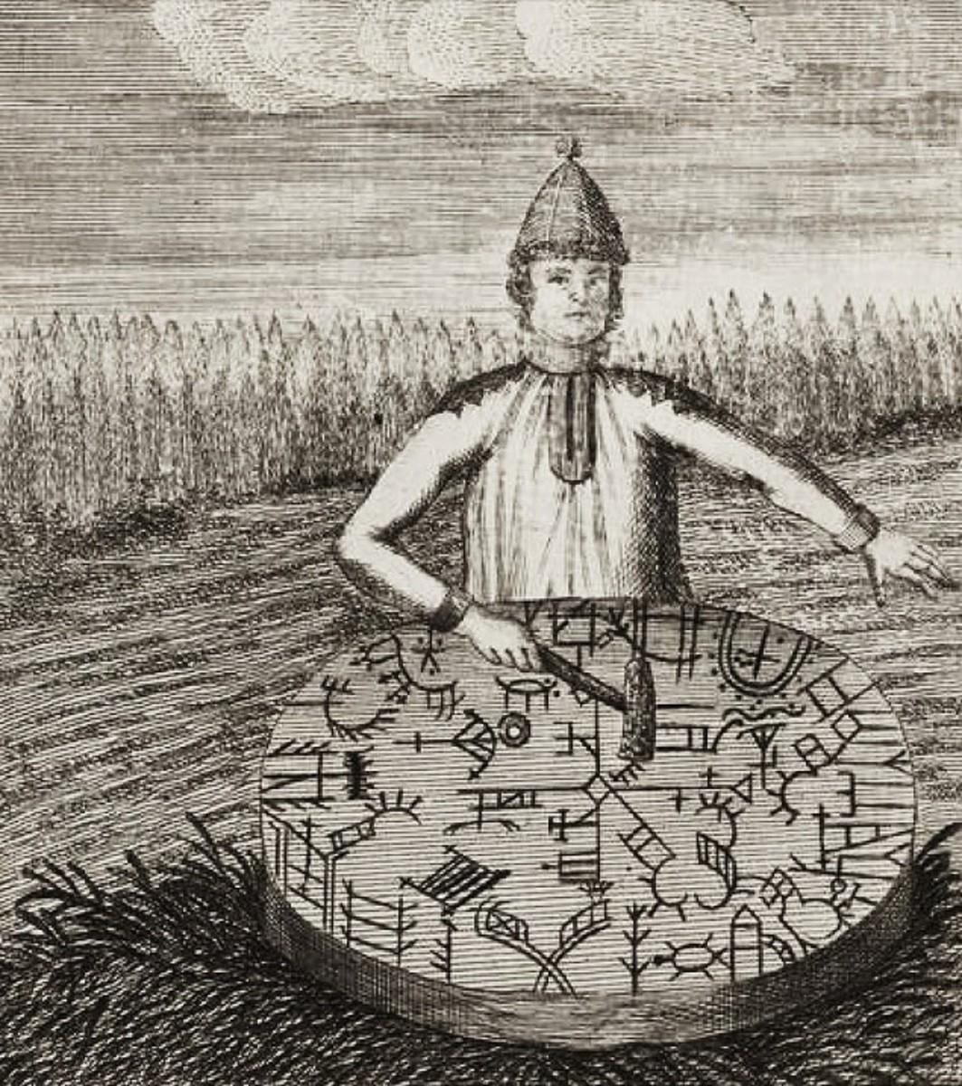 A European Saami shaman with his drum