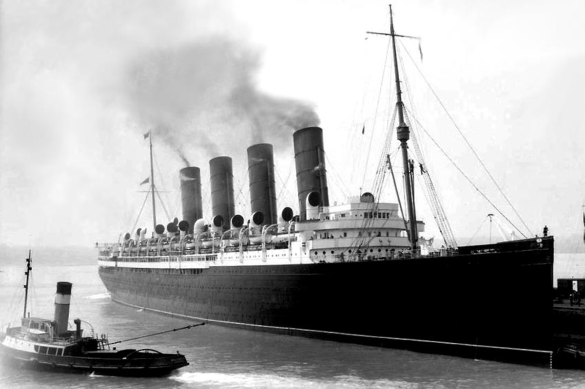 RMS Mauretania shortly after her maiden voyage.