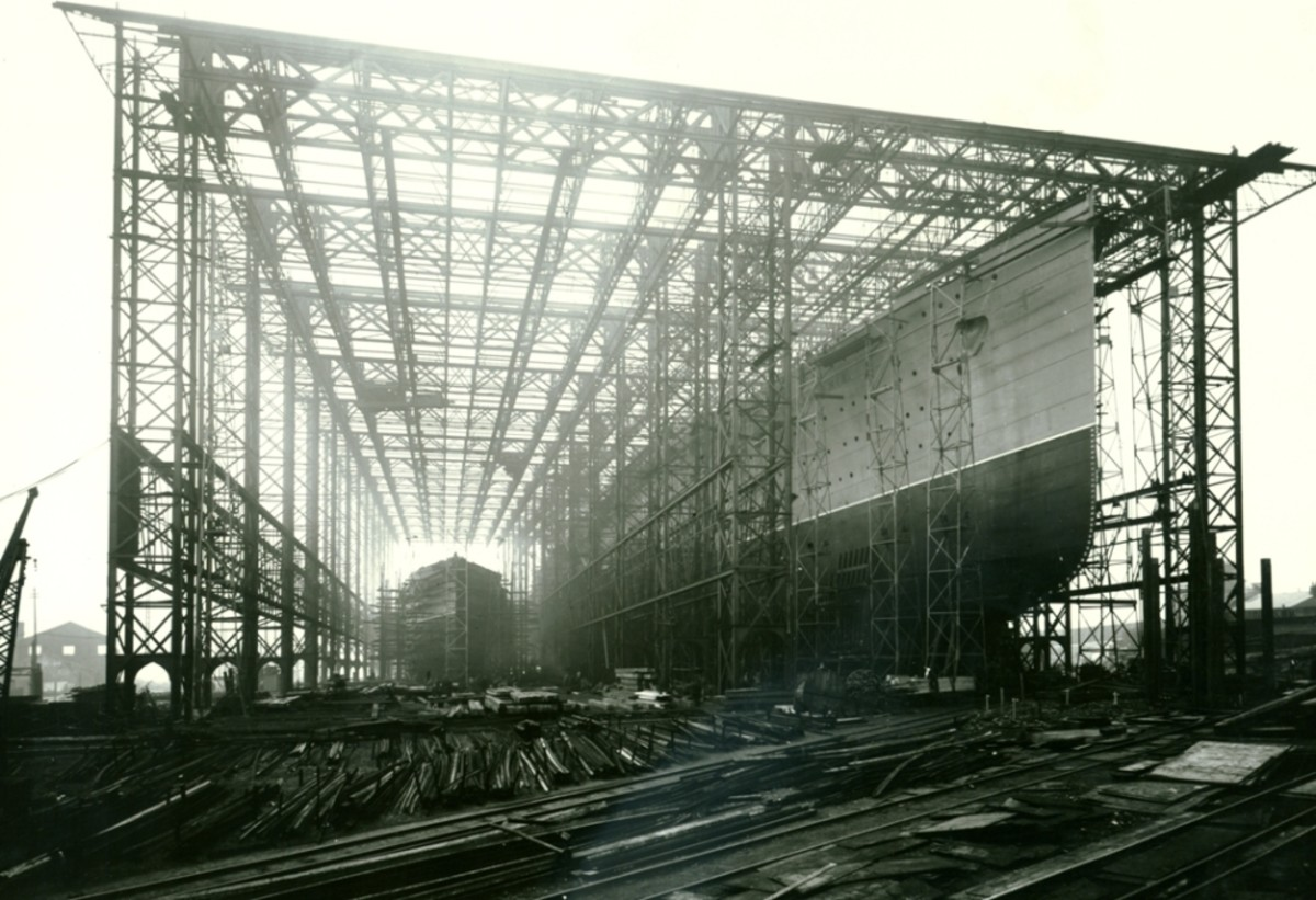 Mauretania under construction.
