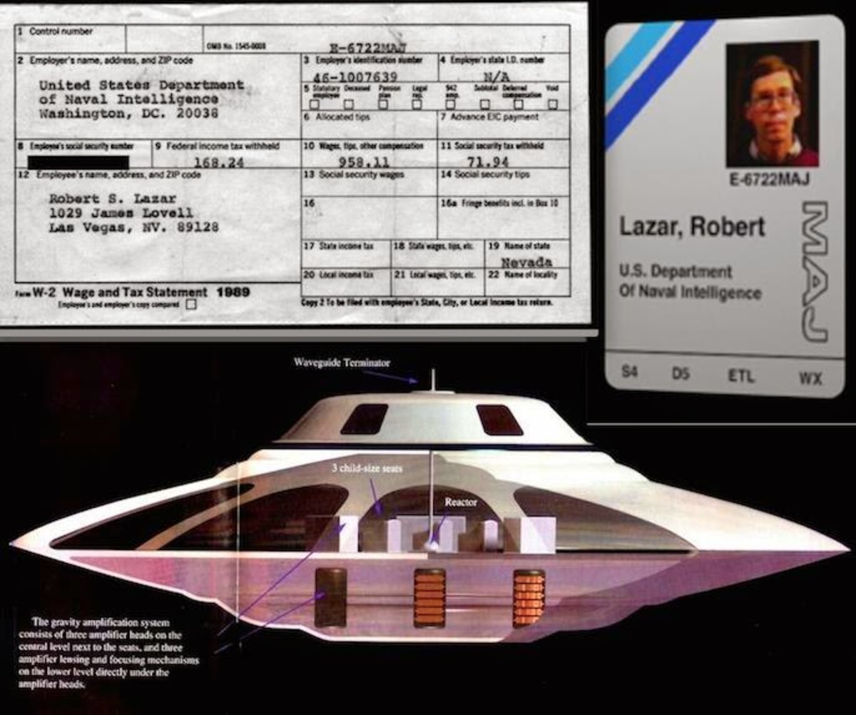 Bob Lazar's  (supposed) badge and what he claims was at Area 51