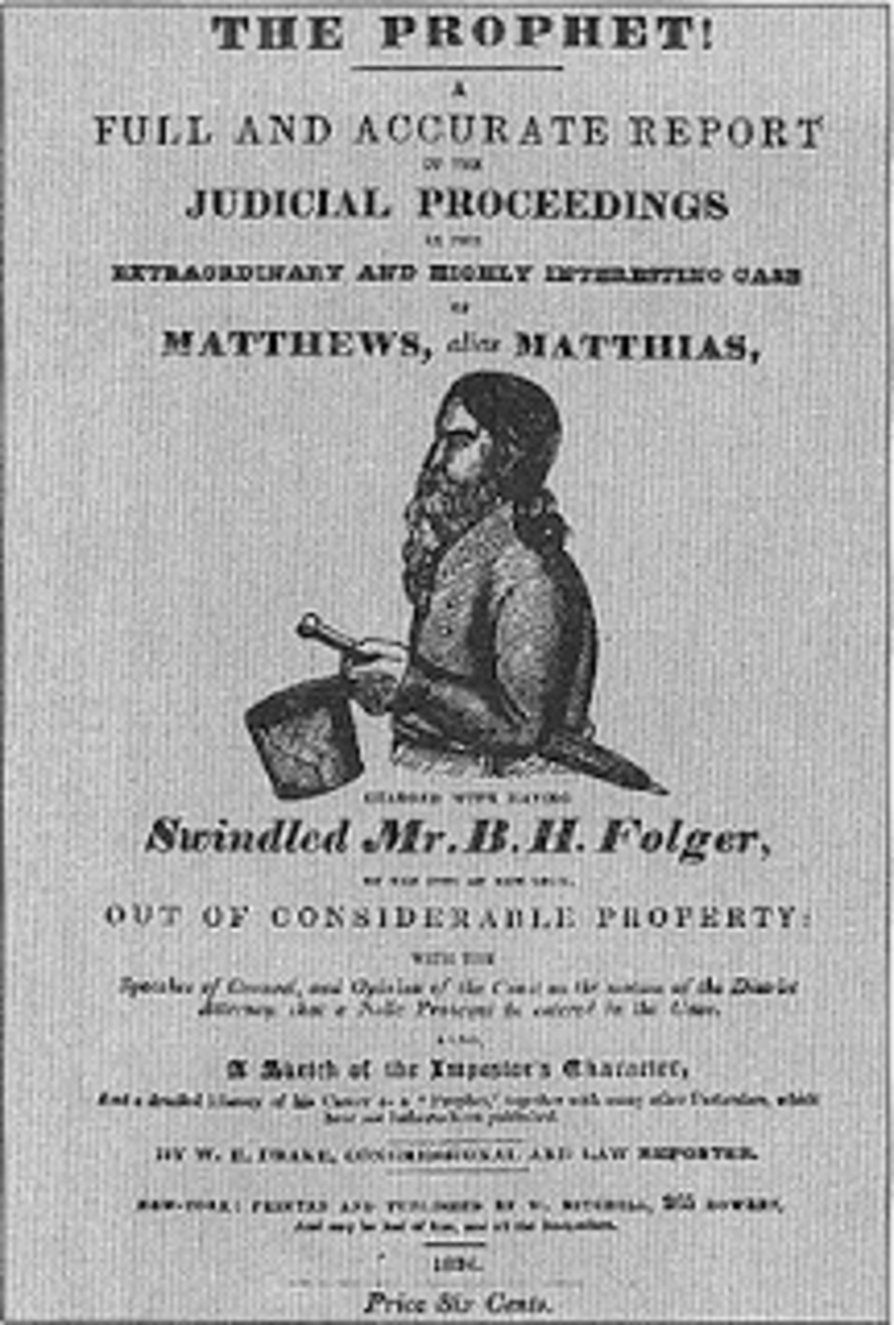 Document on judicial proceedings in the trial against Robert Matthews aka The Prophet Matthias