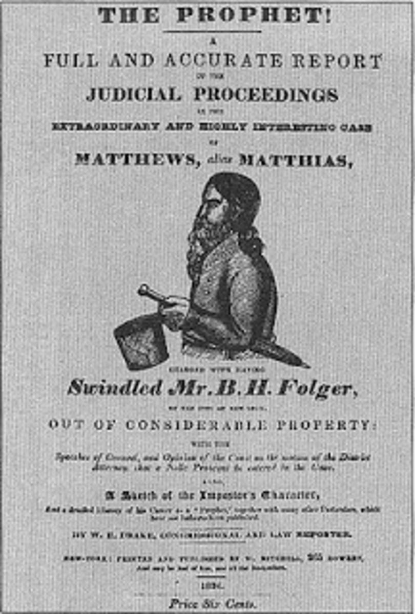 Document on judicial proceedings in the trial against Robert Matthews aka The Prophet Matthias