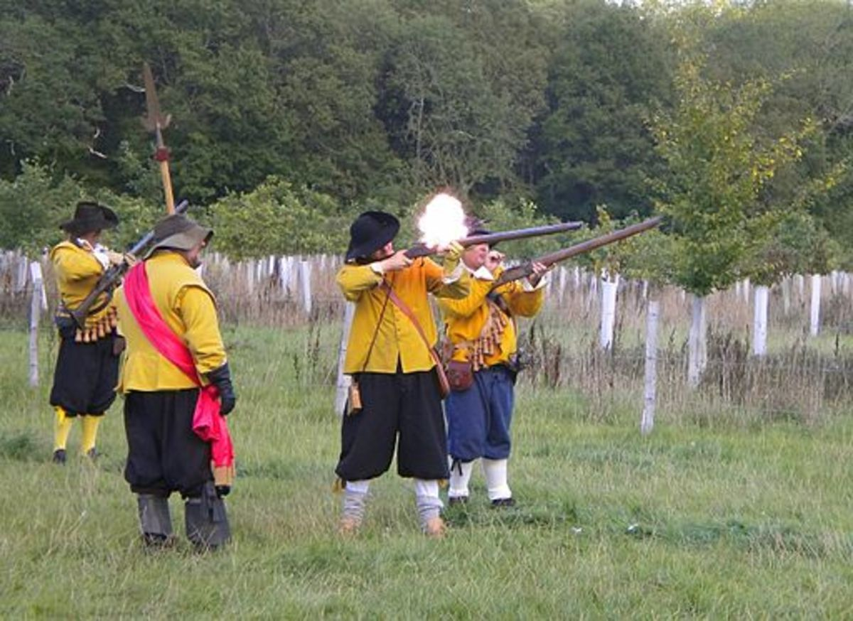 Firing matchlock weapons