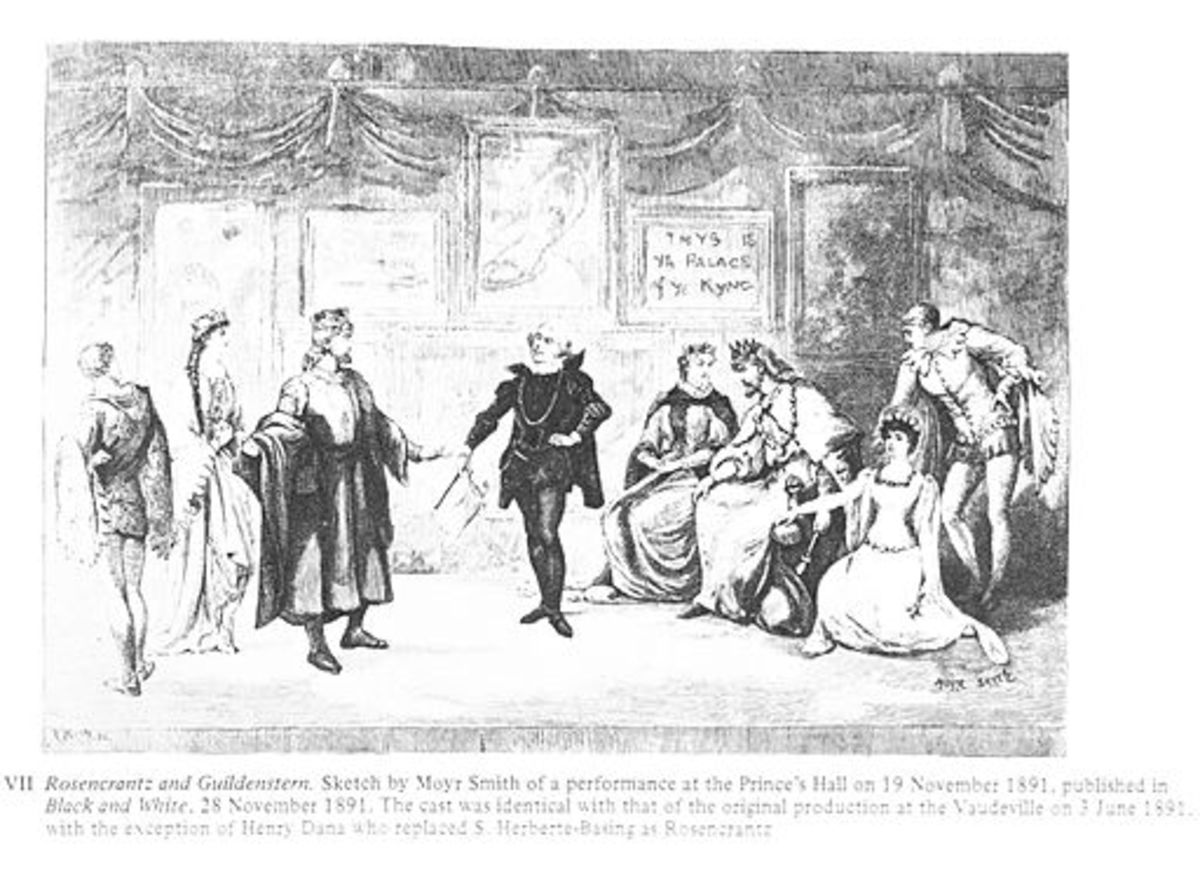 Rosencrantz is centre stage in this 1891 illustration