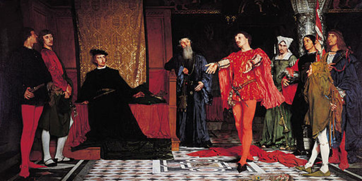 The Players Before Hamlet. A painting by Vladislav Czachorski