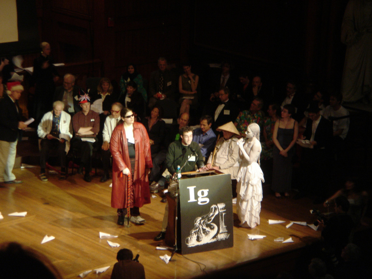An Ig Nobel Prize awards ceremony