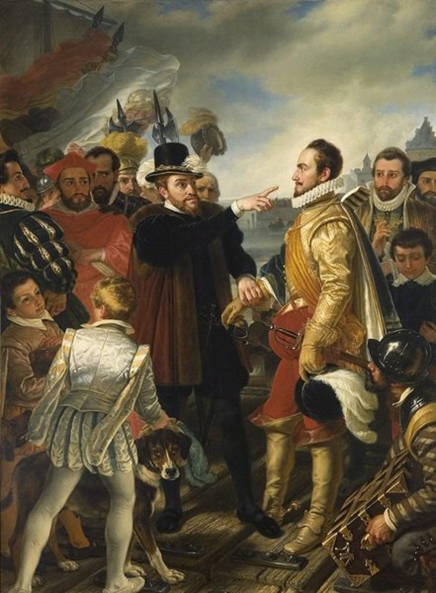 Phillip of Spain berating William the Silent
