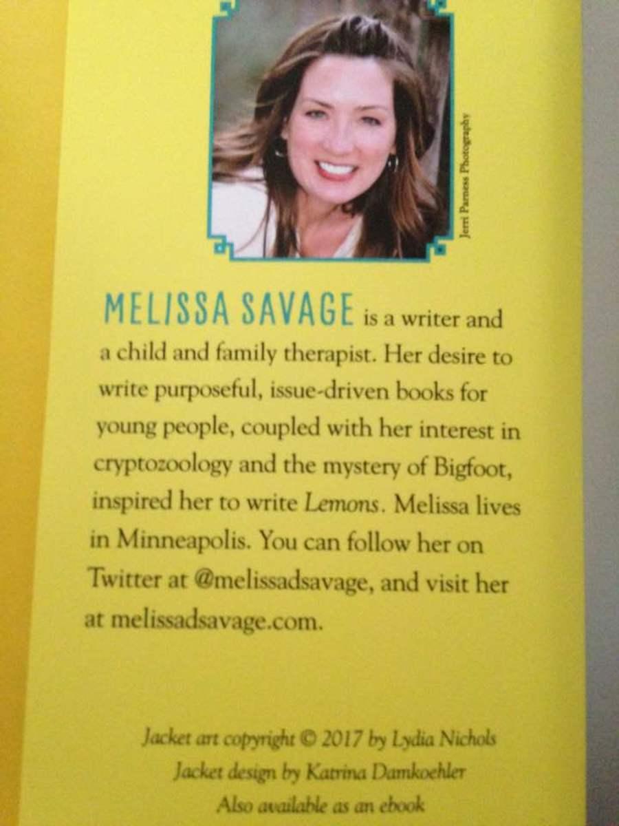 Talented Writer Melissa Savage