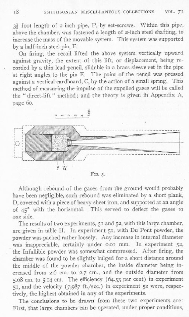 """Excerpt from Goddard's: """"A Method of Reaching Extreme Altitude"""""""