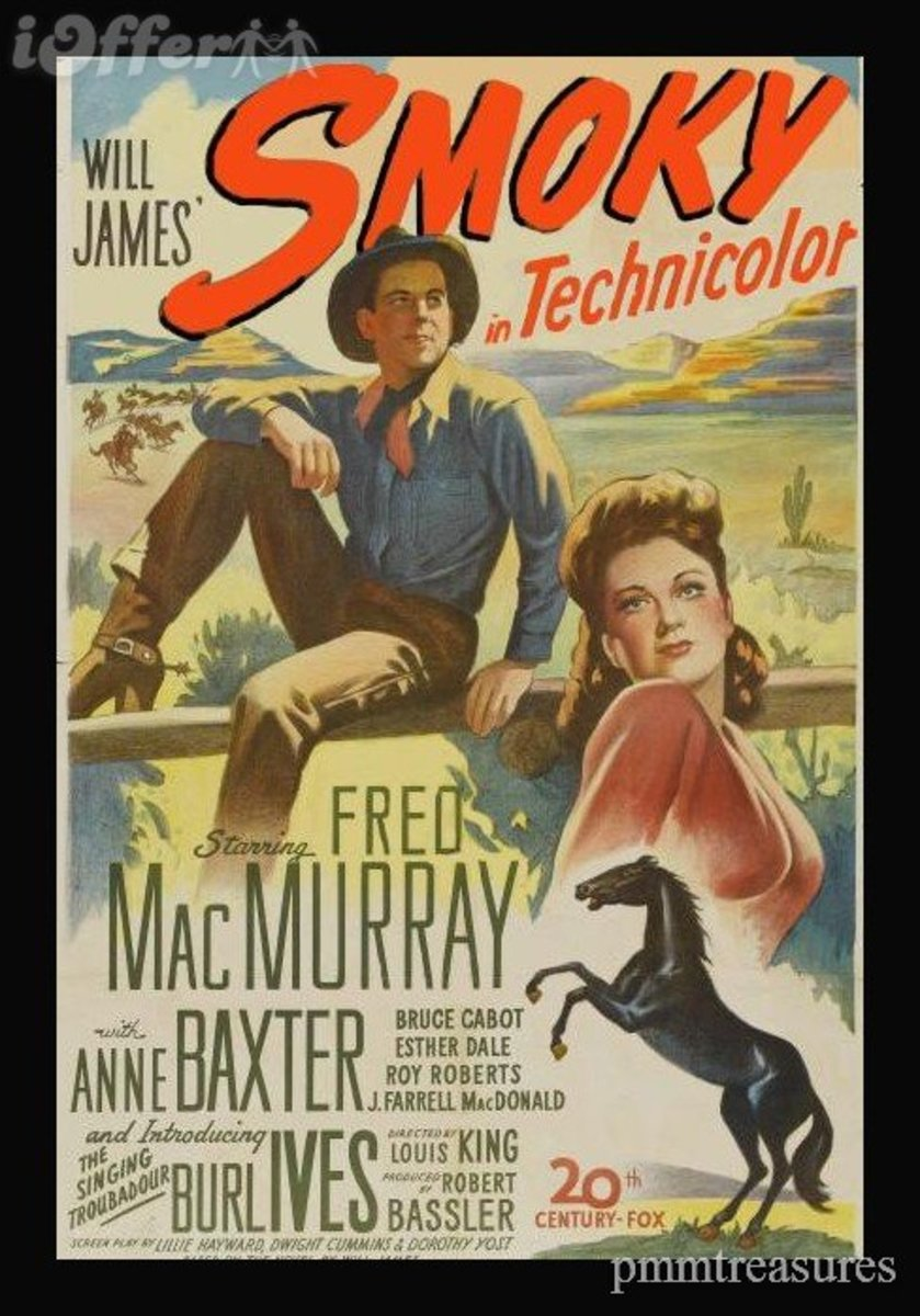 The 1946 version of Smoky the Cowhorse starred Fred MacMurray and Anne Baxter,