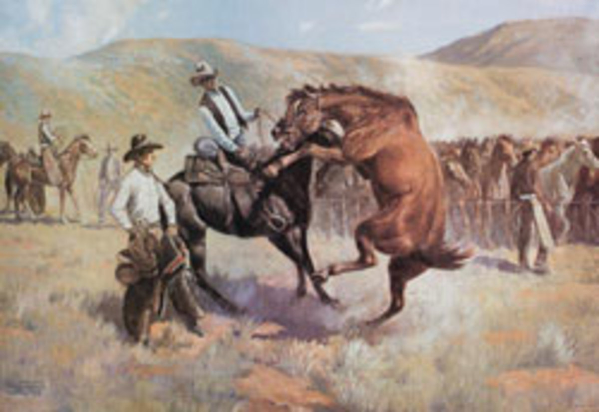 oil on canvas painting titled Rope Corral