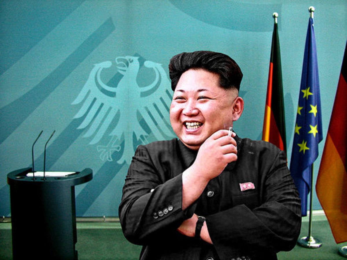 Kim Jong-un enjoys a visit to Berlin.