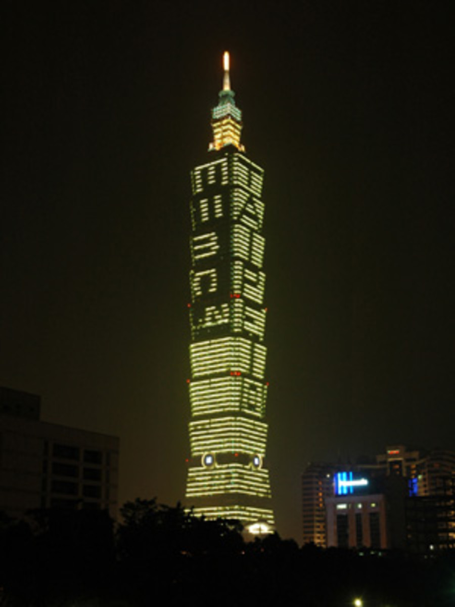Taipei 101 was the tallest building in the world from 2004 to 2009.