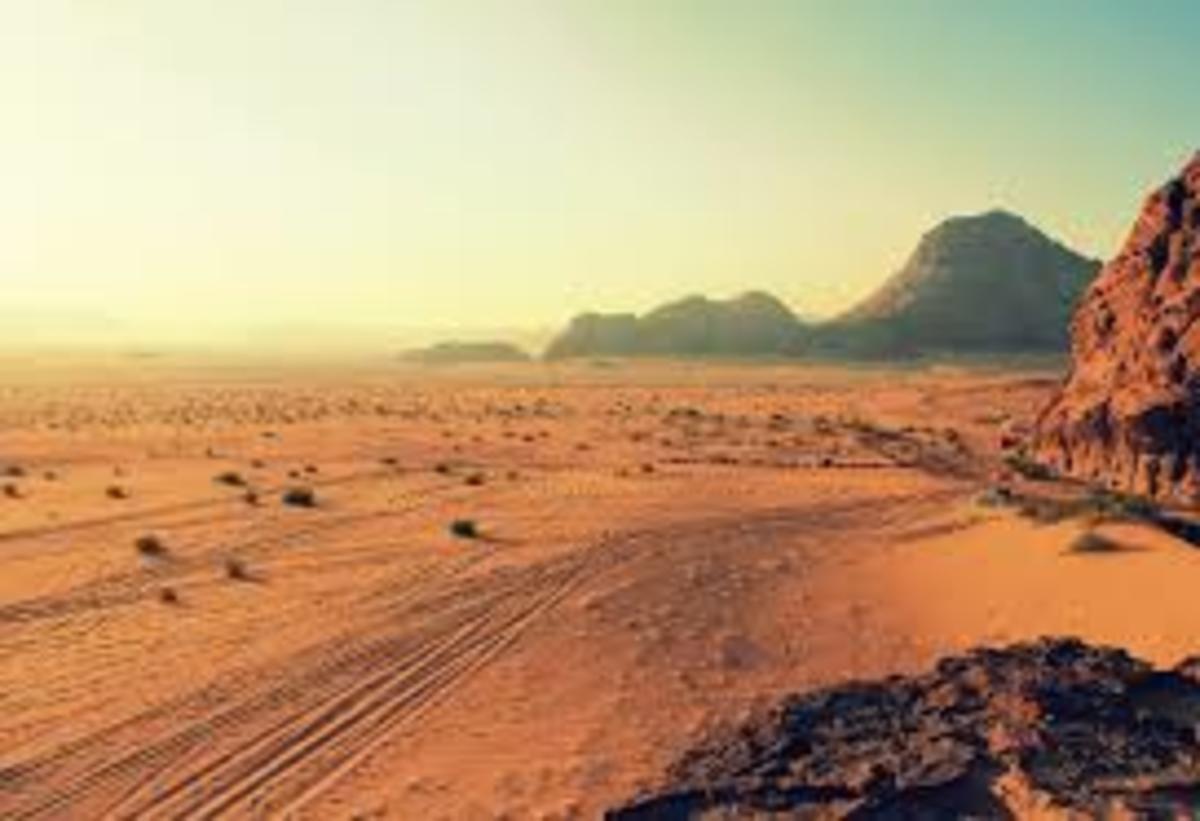 Desert wilderness on Earth.