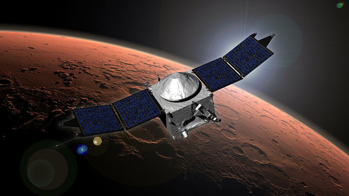 NASA's Mars Atmosphere and Volatile Evolution (MAVEN) mission.