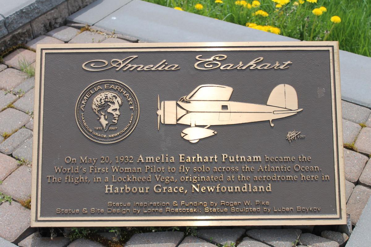 Plaque at Harbour Grace, Newfoundland.