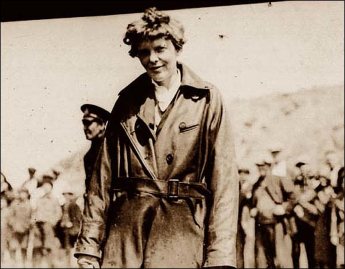 Amelia Earhart at Harbour Grace, Newfoundland, May 20, 1932