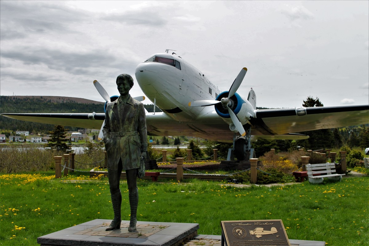 The Amelia Earhart Statue and Aviation Monument, Harbour Grace, Newfoundland