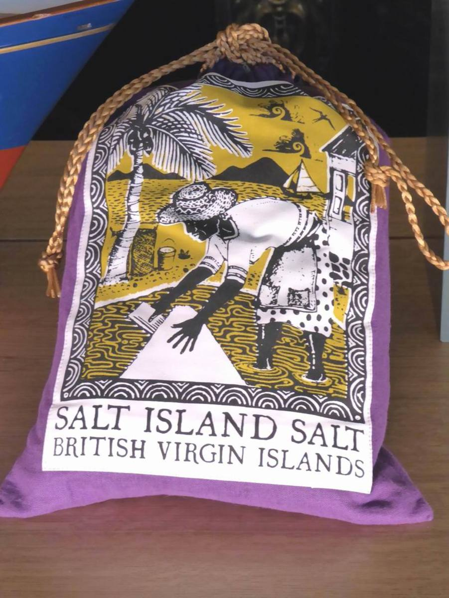 Salt from Salt Island. Image by Frances Spiegel with permission from the Royal Collection Trust. All rights reserved.