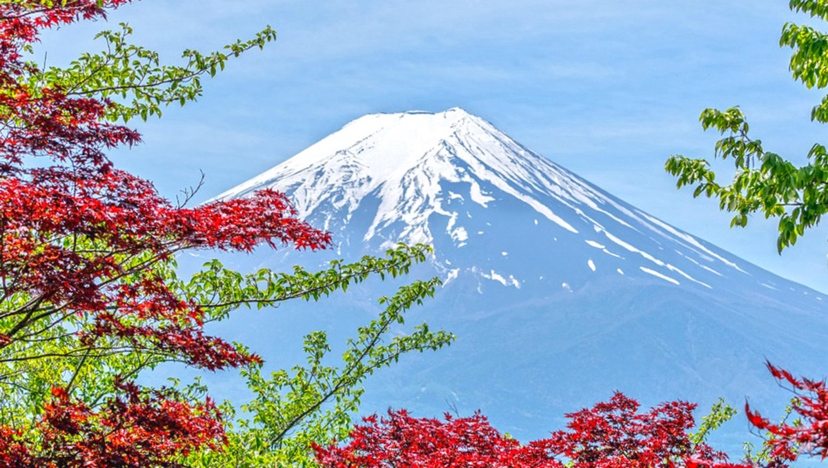 Mount Fuji, the most majestic, the most beautiful Japanese volcano.
