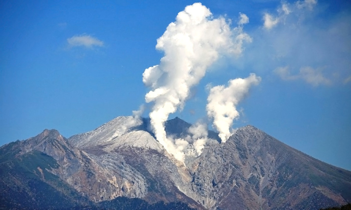 Mount Ontake. One of the most volatile and unpredictable Japanese volcanoes.