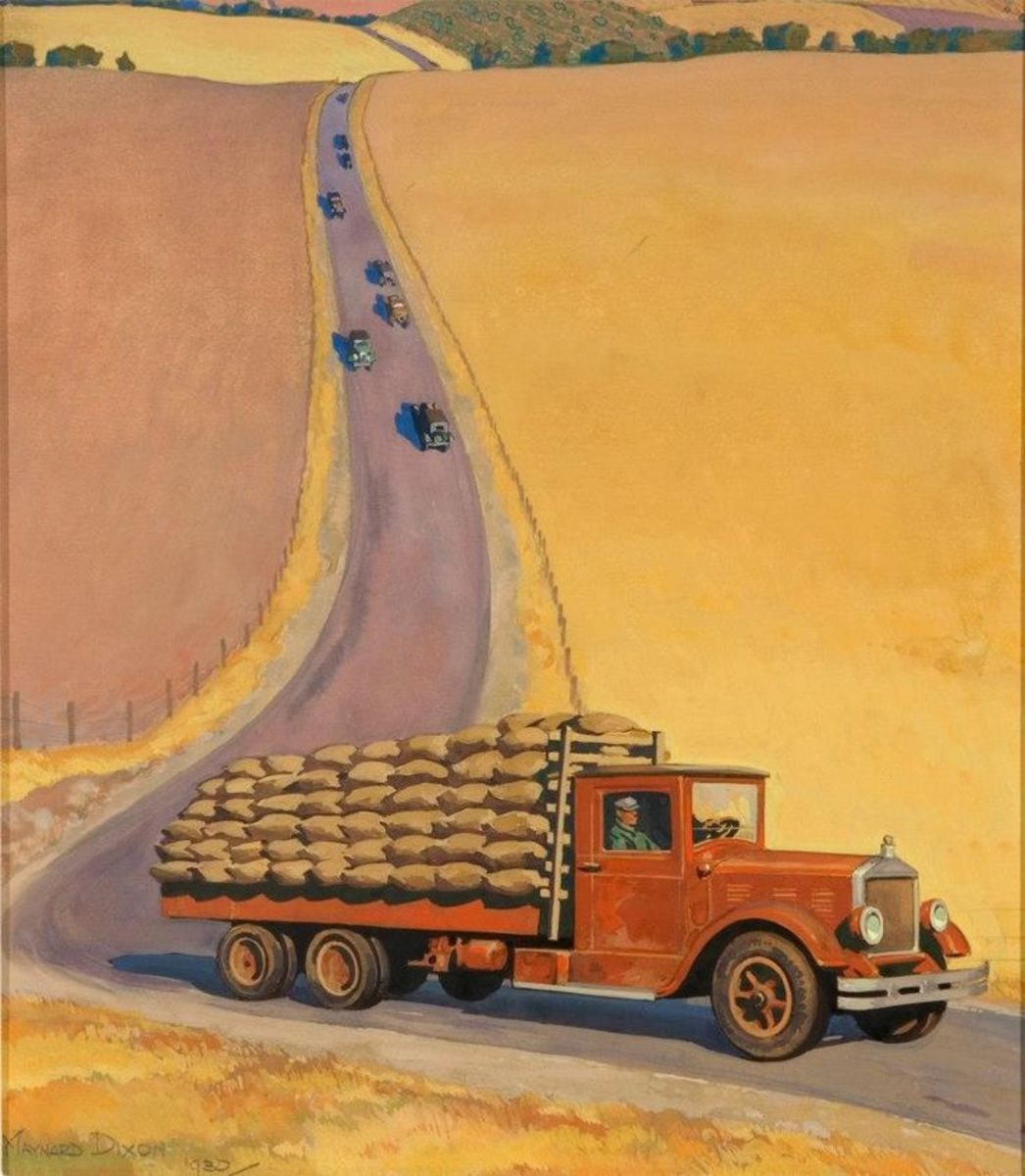 This painting of a western farm appeared on the cover of the Westways Magazine in 1930