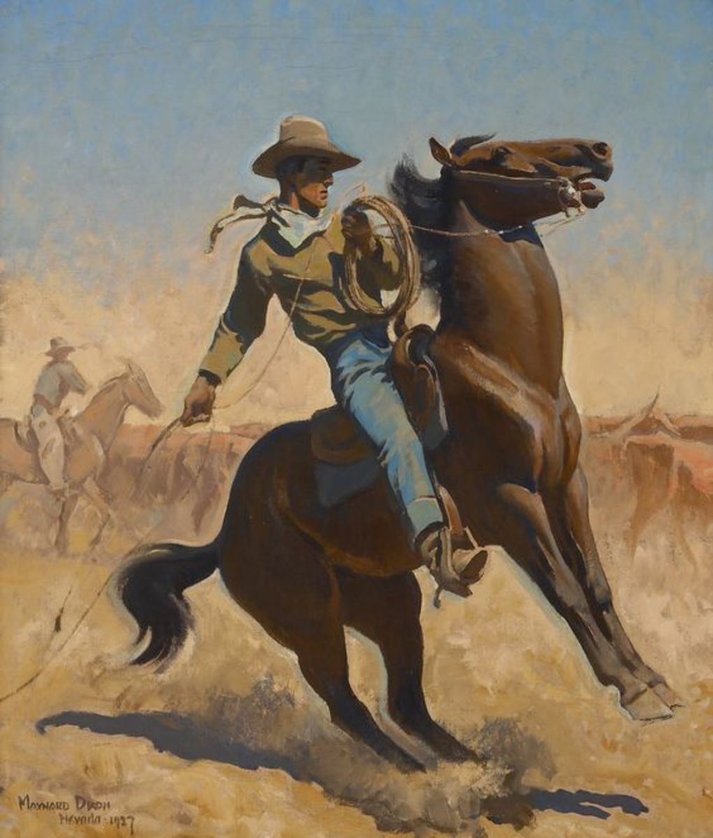 The Cowpuncher a painting by Maynard Dixon