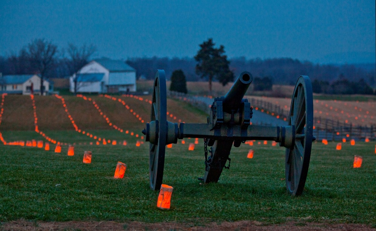 Each year, on the anniversary of the battle, over 23,000 luminaries are lit at Antietam - one for each casualty.
