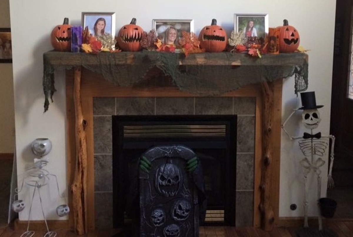 The author's hearth, September - October every year.