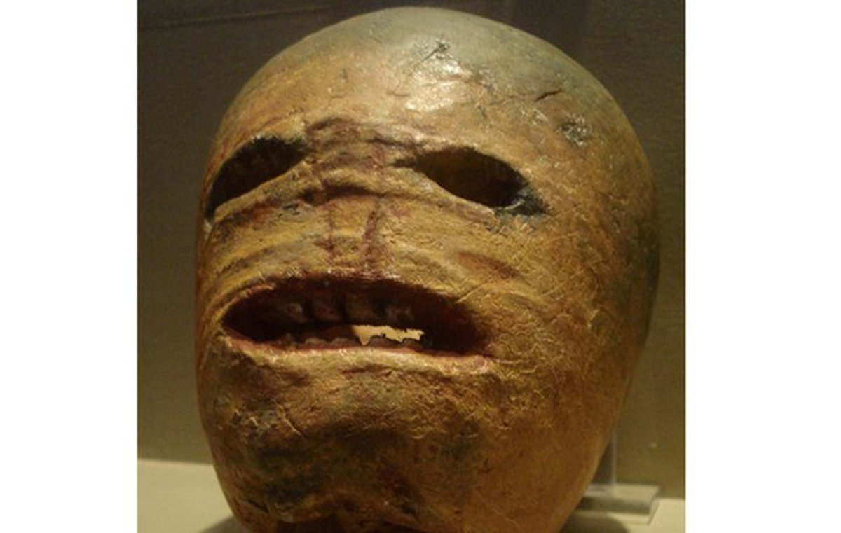 Traditional Irish Jack-o-Lantern, made from a turnip.