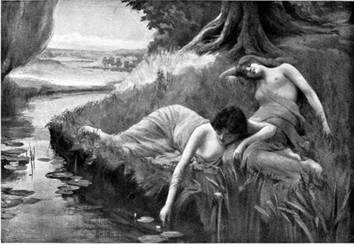 Huldras Nymphs (Bernard Evans Ward 1909)