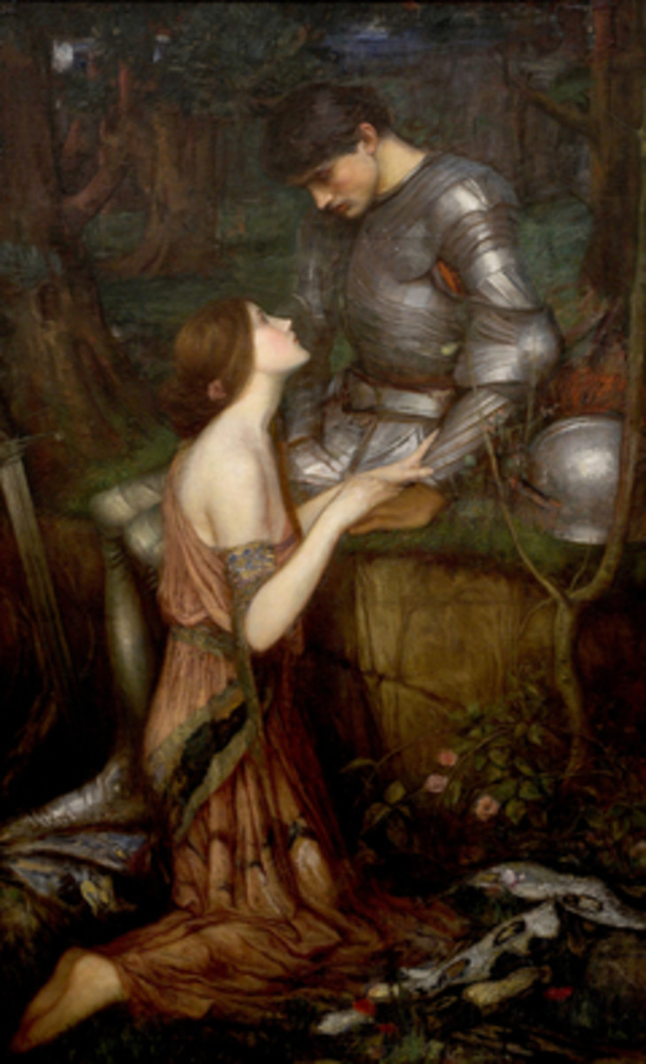Tam Lin (Lamia and the Soldier) (John William Waterhouse 1905)