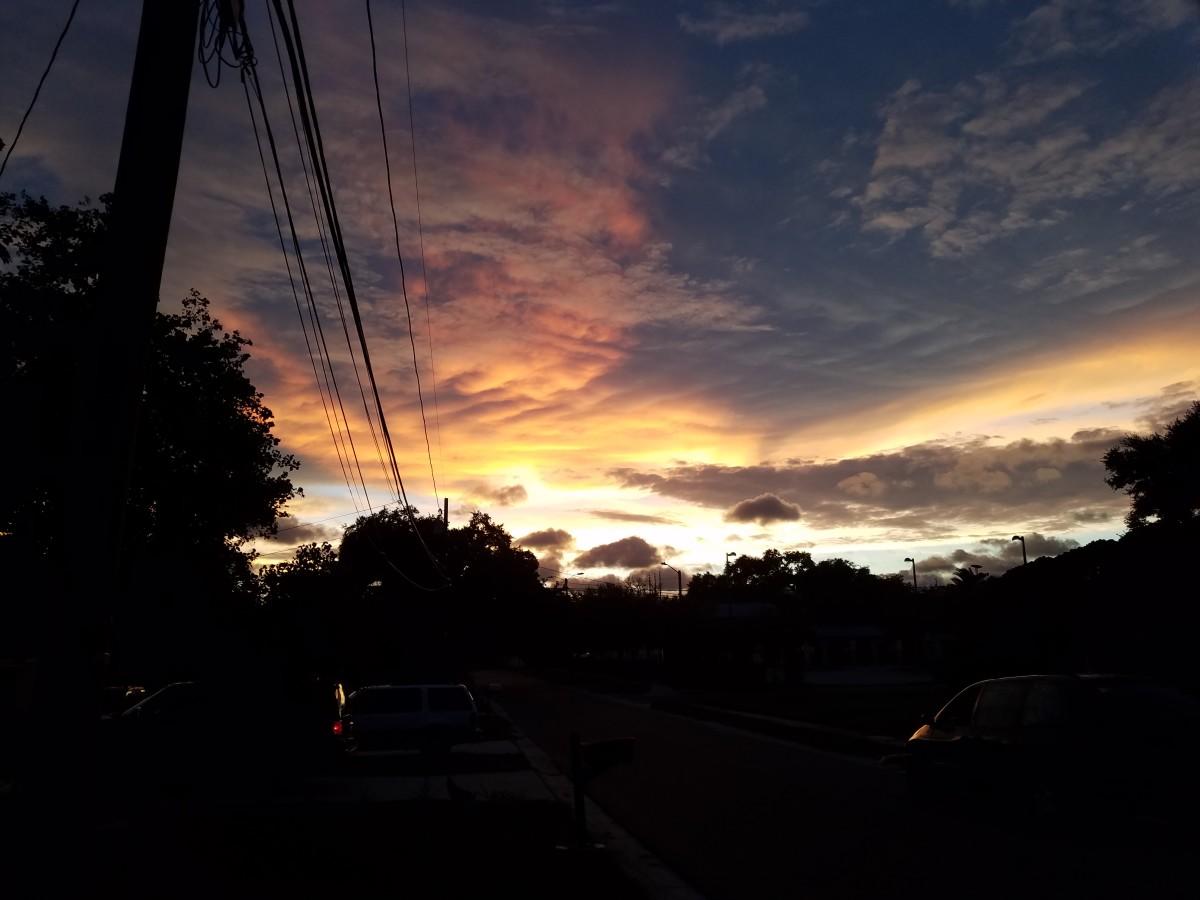 Sunset the night before Hurricane Irma struck Florida.