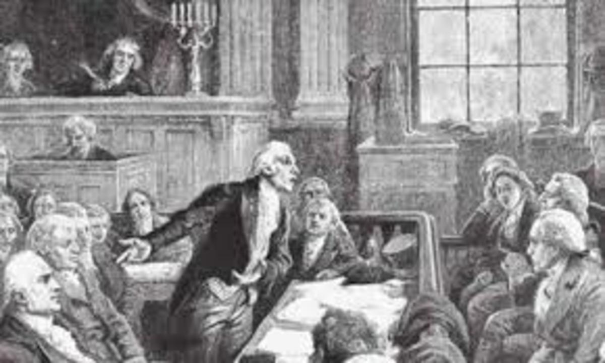Burr's trial for treason.