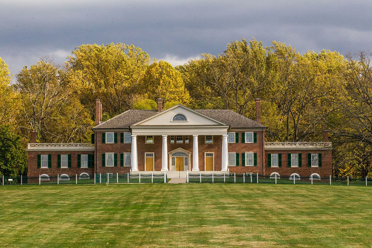 Madison's home, Montpelier, in Virginia as it looks today.