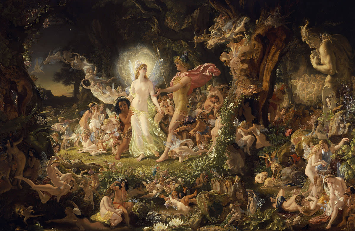 "Oberon and Titania: Shakespeare makes extensive use of supernaturalism in his Romantic Comedy ""A Midsummer Night's Dream"