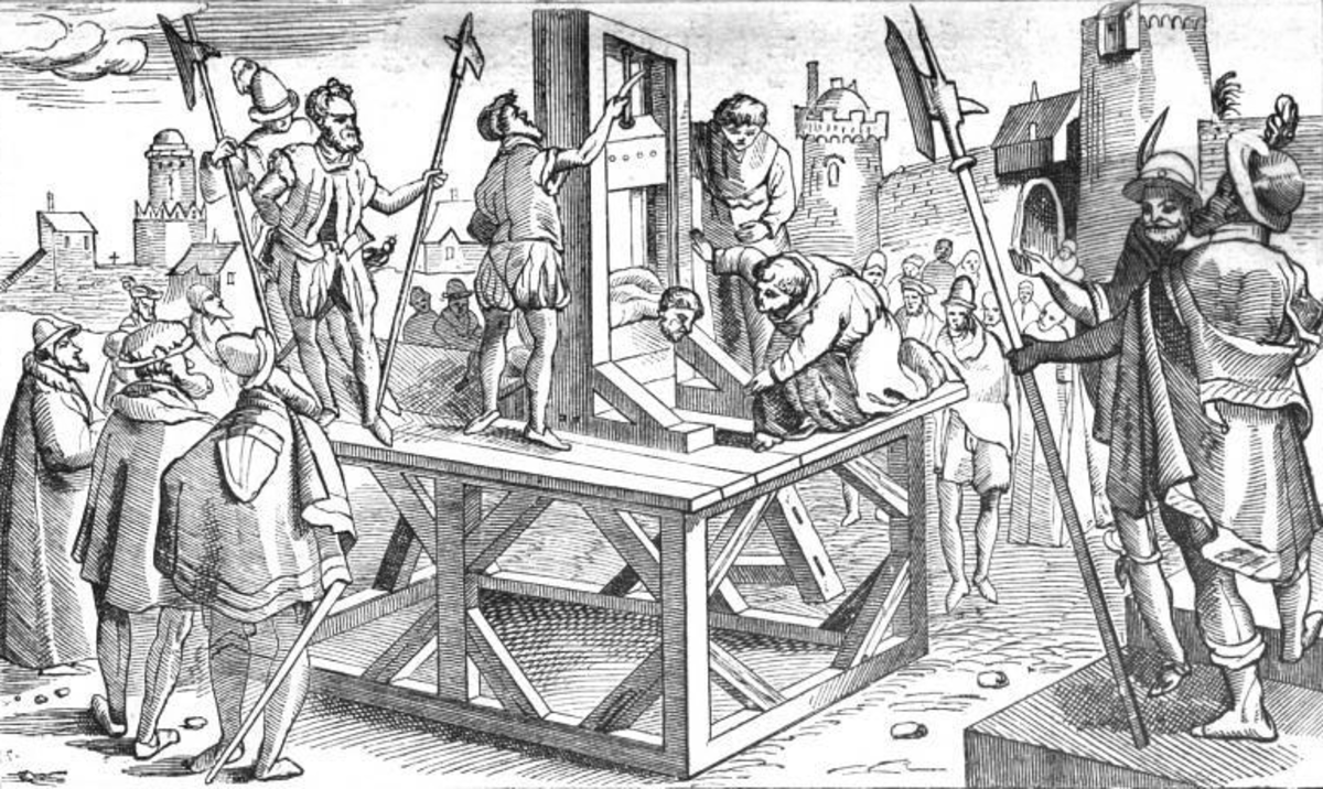 The Guillotine: A form of public punishment which made the body an object of direct penal torture