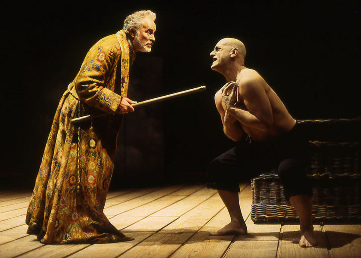 Prospero dominates Caliban