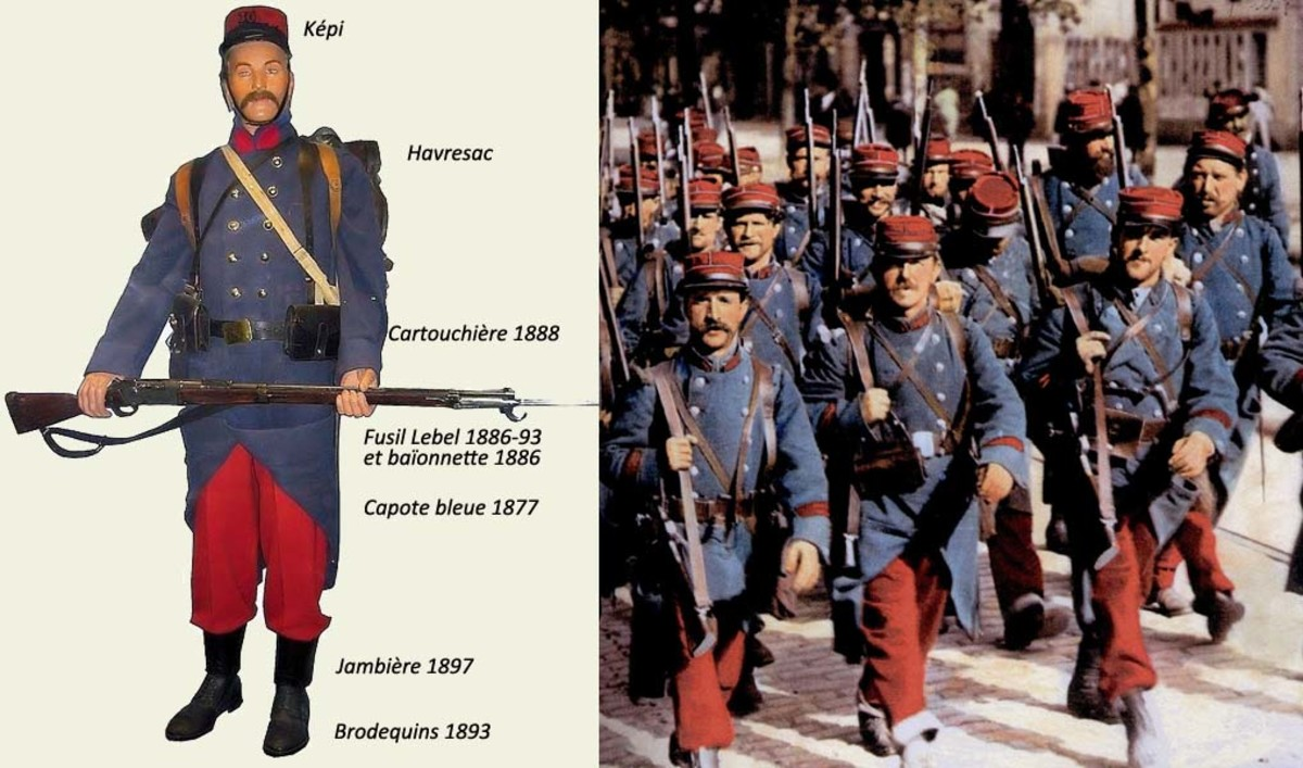 The French uniform in 1914 was striking and easy to see - helping friendly commanders, but also making French troops easy targets for the enemy.
