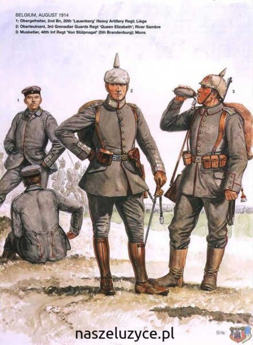 By contrast, German uniforms - like those of the other major powers - were much more subdued, reducing their casualties.