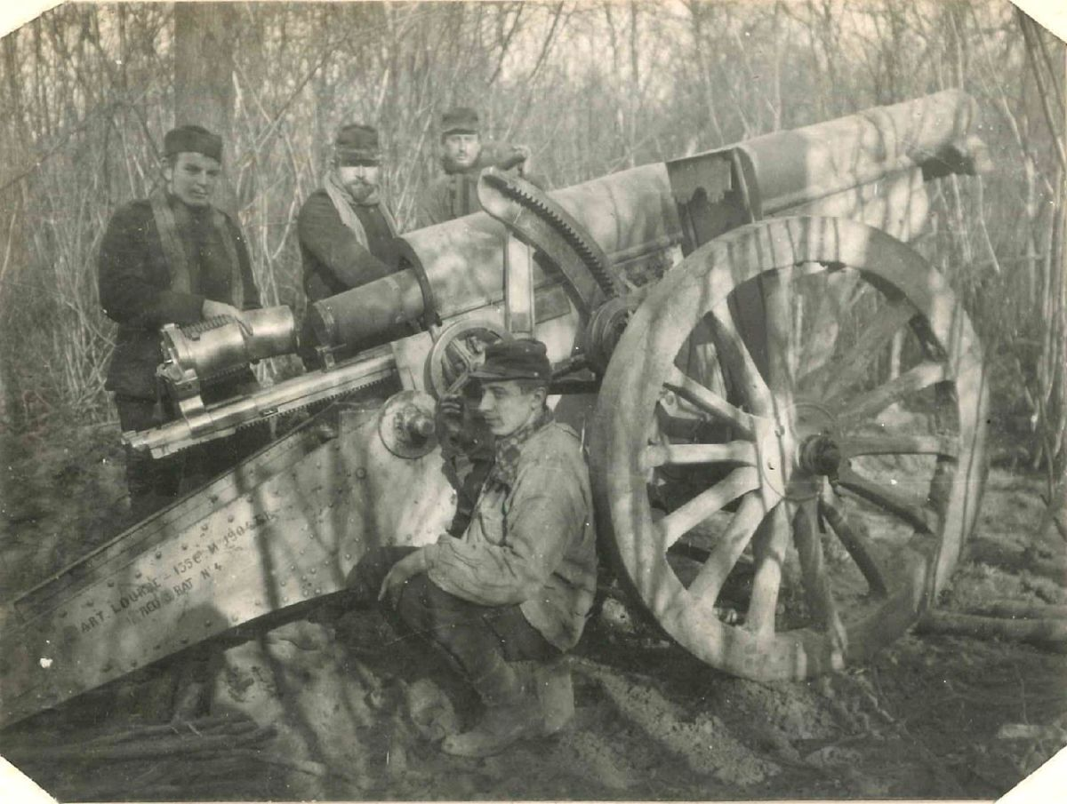155mm Rimailhos could shoot fast, but they had inferior range and above all else inferior numbers to their German counterparts.