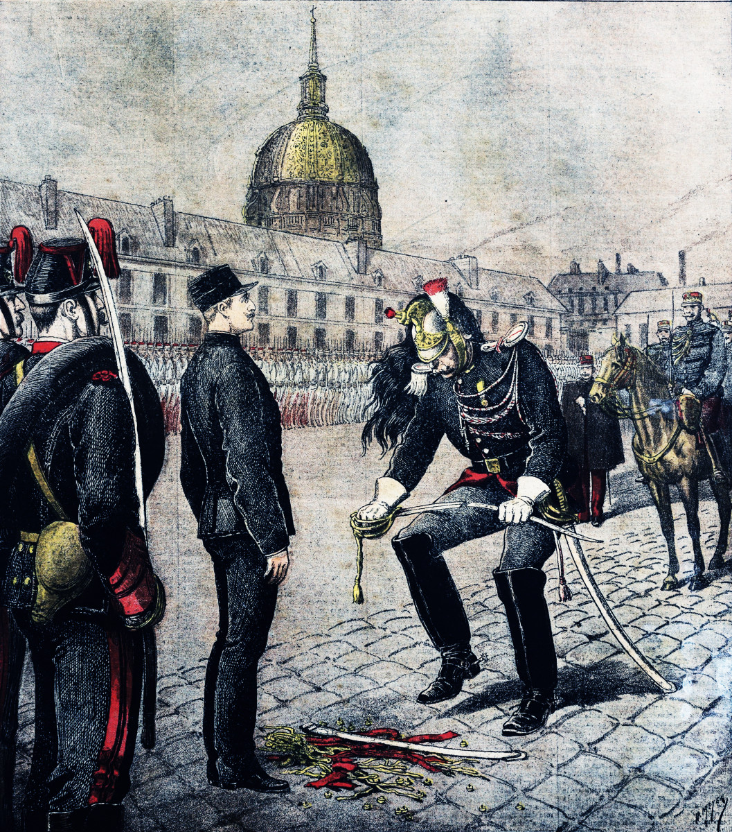 The Dreyfus affair, where a French Jewish artillery officer was accused of spying for Germany, polarized French civil-military relations and led to repressions of the army.