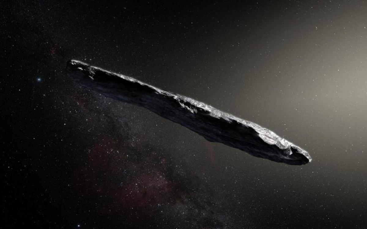 The unusual cigar shape of this asteroid had a few observers speculating about extra-terrestrial visitors, image from ESO